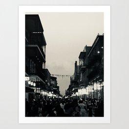 Black & White Bourbon Street Art Print