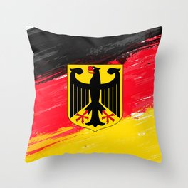 Germany's Flag Design Throw Pillow