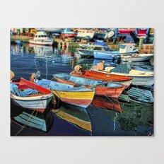 Puerto Mogan Boats Canvas Print