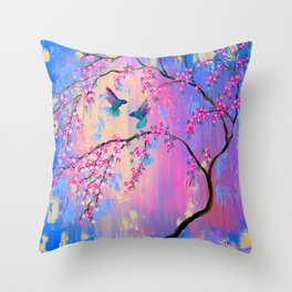 Paradise With You Throw Pillow