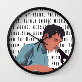 Tyler Joseph Songs Wall Clock