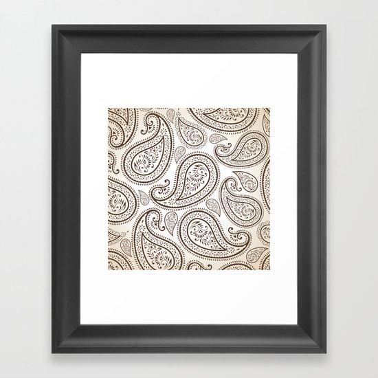 Paisley Threads Framed Art Print