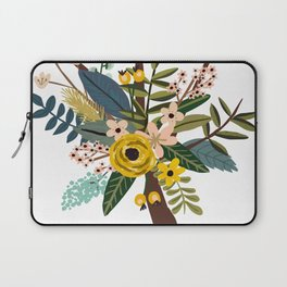 Bold Wildflower Bouquet Laptop Sleeve