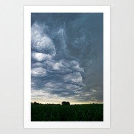 Storms over Nebraska Plains Art Print