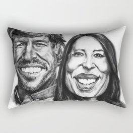 Chip & Joanna Gaines Caricature Rectangular Pillow