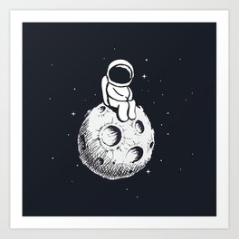 Sit Astronaut Art Print