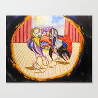 theatre Canvas Prints featuring Theatre by Vargamari