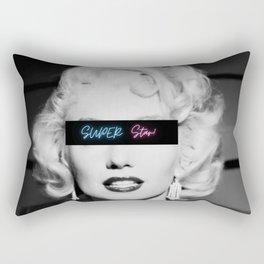Super Star! - Female Empowerment - Marilyn Inspirational black and white photography - photographs Rectangular Pillow