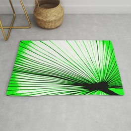 Vibrant, Bold Green Rug