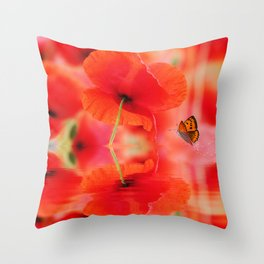 Summer Dream of Poppies Throw Pillow