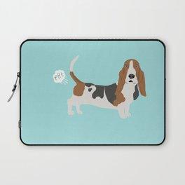 Basset Hound dog breed funny dog fart Laptop Sleeve