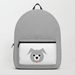Grey & White Dog Backpack