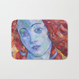 Variations On Botticelli's Venus - No. 3 (Primary Colors) Bath Mat