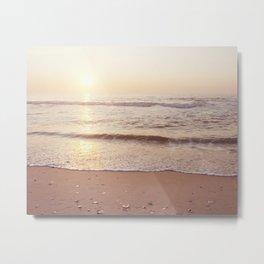 "Ocean Photography, Sea Beach Photograph, Waves Coastal Photo, ""A New Beginning"" Metal Print"