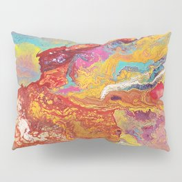 Fiery Mountain // Paint Pour Art // Blooming Life Project Pillow Sham