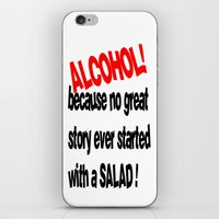 alcohol iPhone & iPod Skins featuring alcohol by Sava Miskovsky