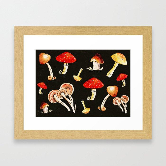 Brigt Mushrooms Framed Art Print