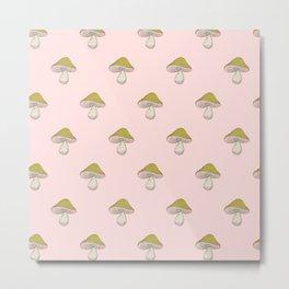 Capped Fellow pattern in peach Metal Print