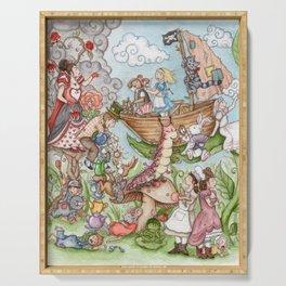 Alice in Wonderland Serving Tray