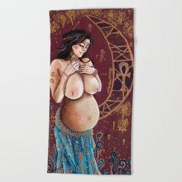 Pregnant Lilith Beach Towel