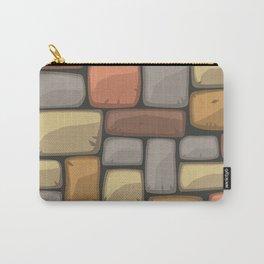 Cartoon brick wall Carry-All Pouch