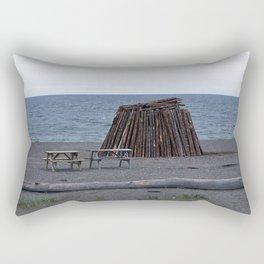 Bonfire Beach Rectangular Pillow