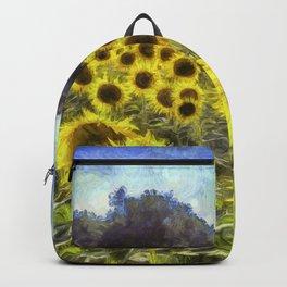 Sunflower Fields Of Dreams Art Backpack