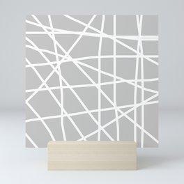 Doodle (White & Gray) Mini Art Print
