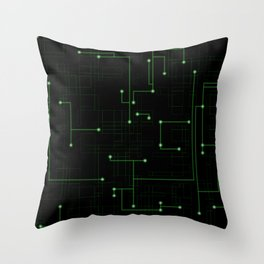 Electric Maze Throw Pillow