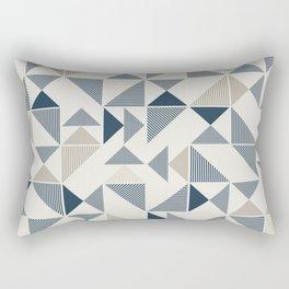 Blue Aztec Pattern (Color) Rectangular Pillow