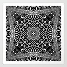 Black & White Tribal Symmetry Art Print