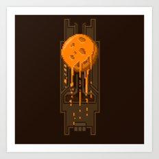 Pixel Planets : Mars Art Print