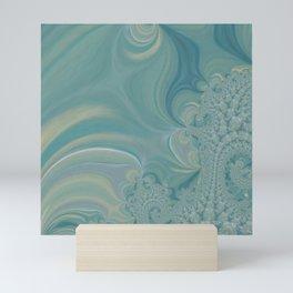 Soft Green Fractal 2 - Abstract Art by Fluid Nature Mini Art Print