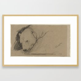 Kop van een ijsbeer, John Macallan Swan, 1857 - 1910Kop van een ijsbeer, John Macallan Swan, 1857 - Framed Art Print