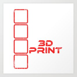 Eat Sleep 3D Print Repeat 3D Printing is a great gift idea for 3D Printing Fan on birthdays T-shirt Art Print