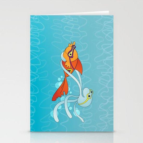 Goldfish & Octopus Stationery Cards