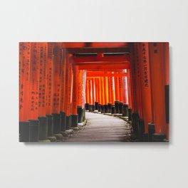 Walk under Torii Gates Metal Print