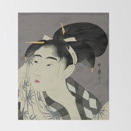Utumaro #1 Throw Blanket