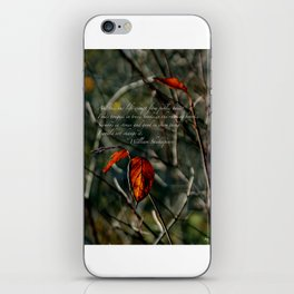 Autumns Last Dance with Shakespeare Cards & Posters iPhone Skin