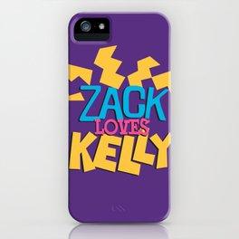 Zack Loves Kelly iPhone Case
