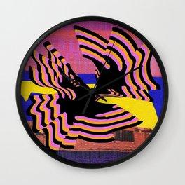 coral warp Wall Clock