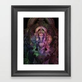 Ganesha Color Framed Art Print