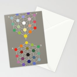 Illustration from the Manual of the science of colour by W. Benson, 1871, Remake (interpretation) Stationery Cards