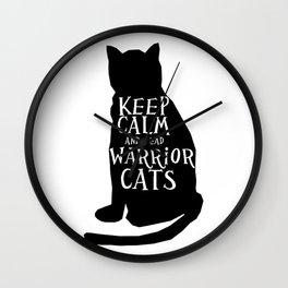 Keep Calm Warrior Cats Wall Clock