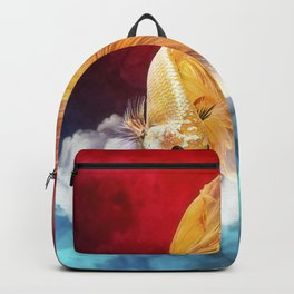 Cloud Fish on Watercolor Backpack