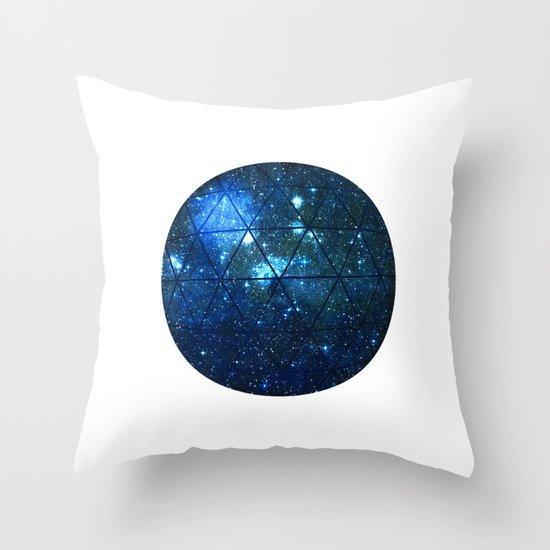 Star Geodesic Throw Pillow