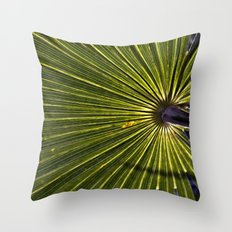 Green Palm Poetry Throw Pillow