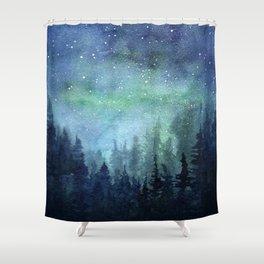 Galaxy Space Painting Stars Cosmic Universe Nebula Art Shower Curtain