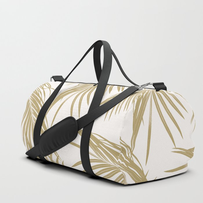 Gold Palm Leaves Dream #1 #tropical #decor #art #society6 Duffle Bag