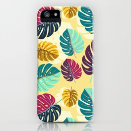 Monstera Delight Ink Print iPhone Case